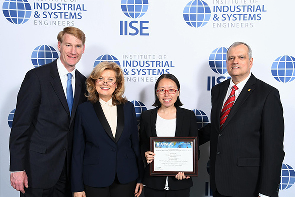 Alumna Prof Yanting Li (second right) represented the team to receive the award at the IISE Annual Conference & Expo 2018 on May 19-22 in Florida, US.