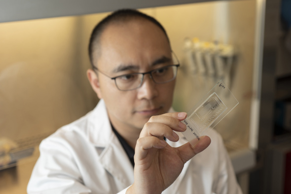 Dr. Ervin Shu created a medical device, CryoChip, to help couples struggling with infertility by automating and standardizing the process of embryo vitrification.
