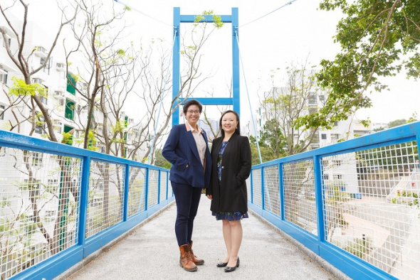 Ready to structure the future: civil engineers Gigi Suen (left) and Jenny Yeung.