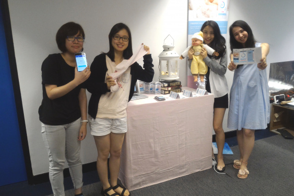 (From left) Karen Shuk Kwan Yau and Lilian Ka Lai Tsang, both from HKUST, and Simei Wen and Rong Lin, both from CAA.