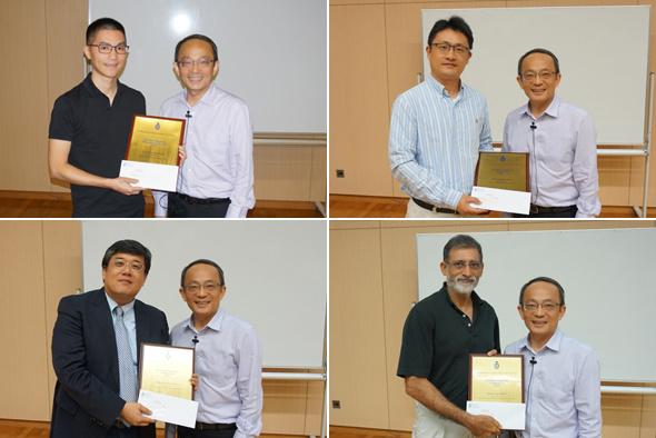Faculty members received the School of Engineering Teaching Excellence Appreciation Award 2016-17 from Dean of Engineering Prof Tim Cheng.