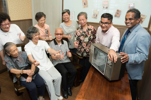 The elderly were all smiles on catching the sounds and images of their past.