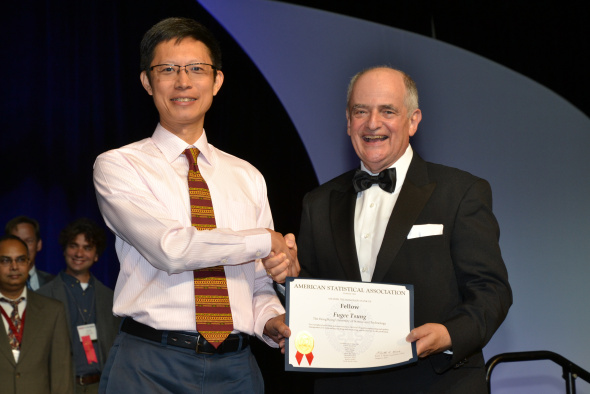 Prof Fugee Tsung received the Fellow award at the Joint Statistical Meetings in Baltimore, US.