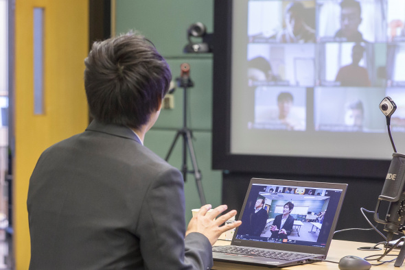 Multiple cameras have helped faculty deliver effective real-time interactive online teaching.