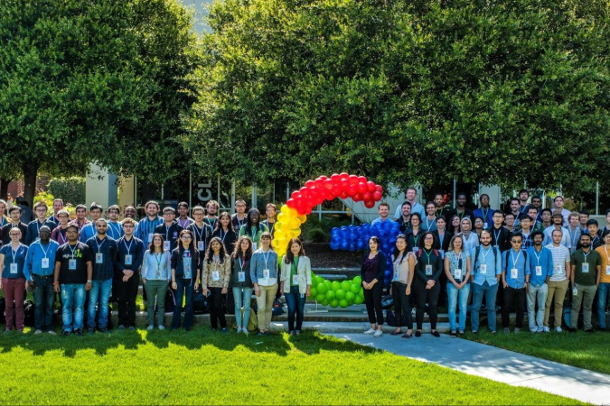 Wei Lili (eighth left, front row) at the Google PhD Fellowship Summit 2019