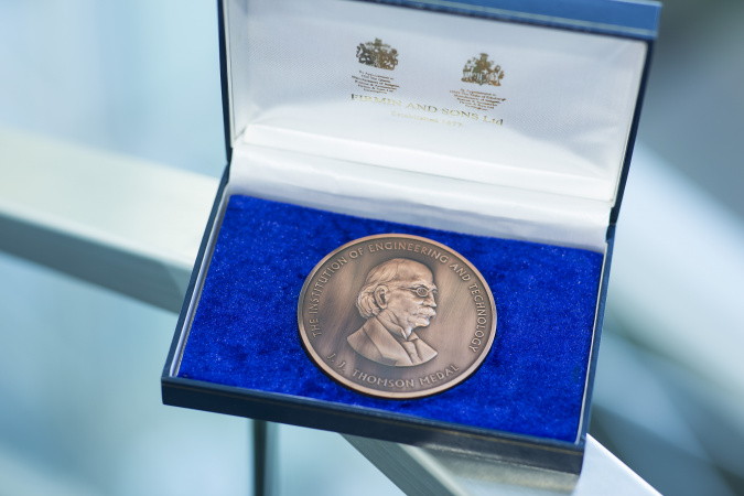 The J. J Thomson Medal is a significant international award to honor distinguished contributions in electronics.