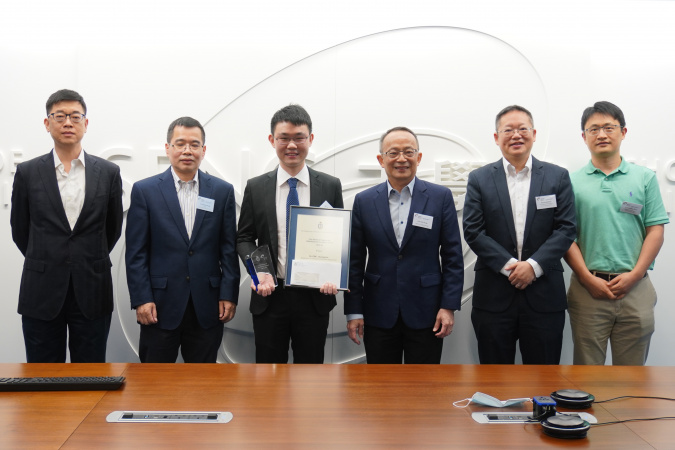 Dr ZHU Shangqian (3rd from left) from the Department of Chemical and Biological Engineering, Recipient of SENG PhD Research Excellence Award 2019-20