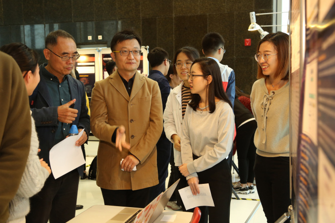 Students introduced their research to participants.