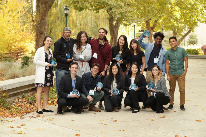"Samantha (front row, second from right) with her fellow ""EE 30 Under 30"" awardees."