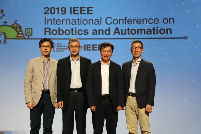 (From left) Prof. SEO Jungwon, Prof. Michael WANG, Prof. LI Zexiang and Prof. Frank PARK