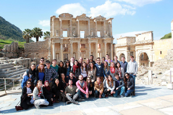 Stephen (second row, third left) had eye-opening experiences during his exchange in Turkey and treasures his encounters with students from around the world.