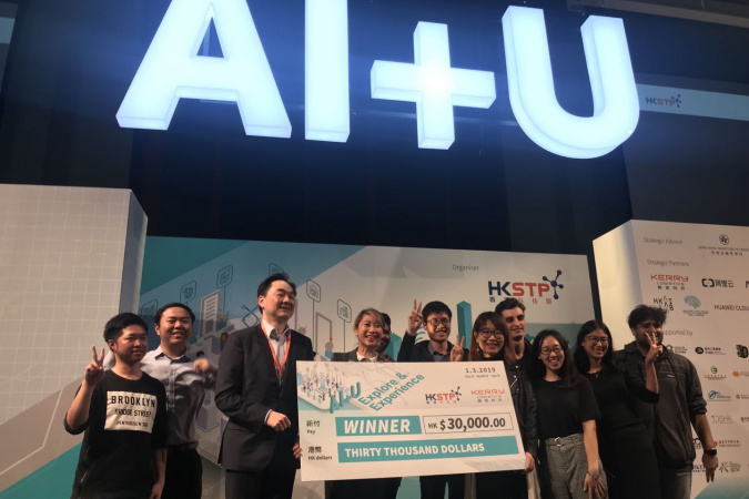 "The team won the Chatbot Millionaire Challenge in ""AI+U: Explore and Experience Exhibition"" organized by the Hong Kong Science and Technology Parks Corporation."