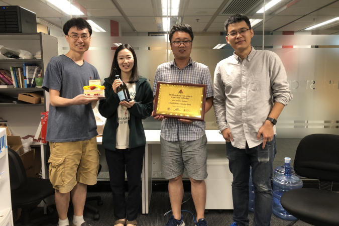 Celebration of the first paper published in the Wang Genomics Lab in 2018.