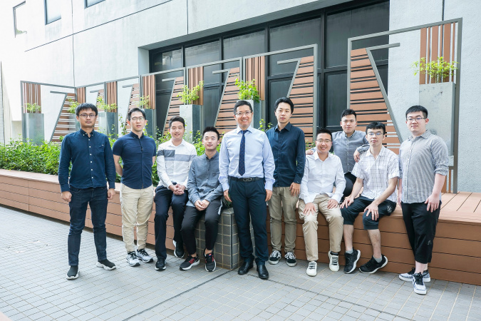 Prof. Chen Kai (fifth from left) and his team