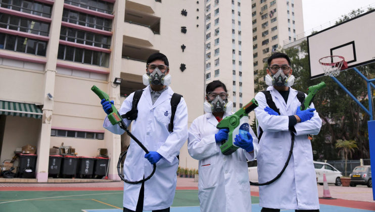 Applying a Long-term Disinfection Solution Developed by HKUST to Local Schools