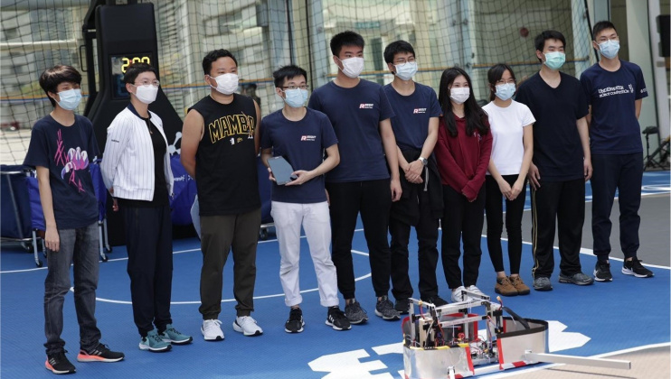 HKUST Robotics Team won the championship on the second day of the HKSTP Human-Robot Basketball Competition held in Hong Kong Science Park.