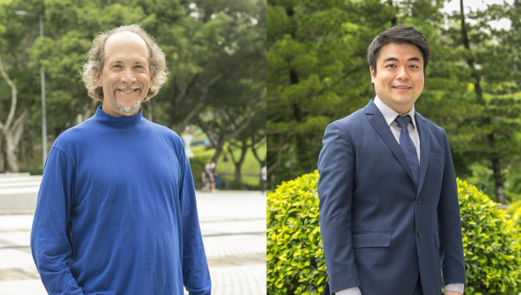 Prof. Andrew Horner (left) and Prof. Terence Wong received the Honorary Mentions for their dedication towards teaching and design of common core courses.